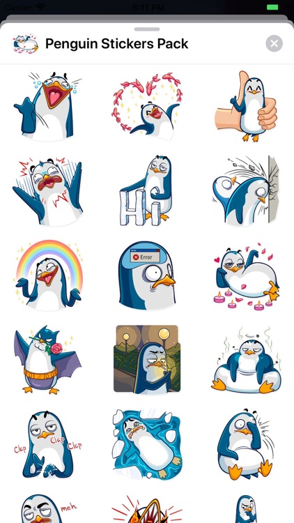Penguin Stickers Pack