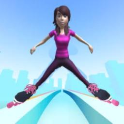 Sky Parkour Roller -Skate Run