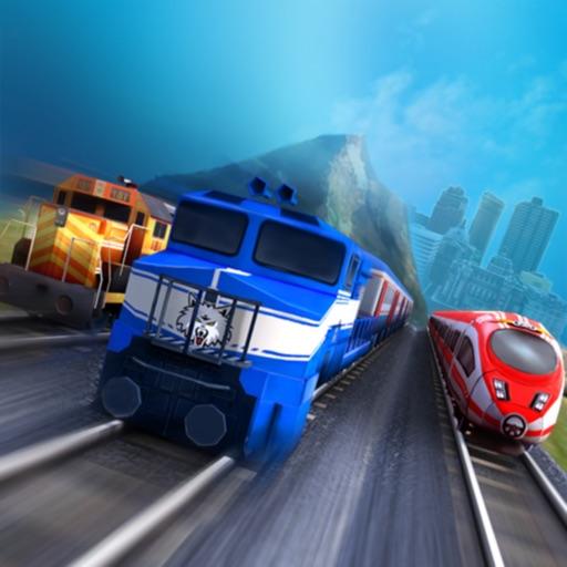 Train racing 3D 2 player
