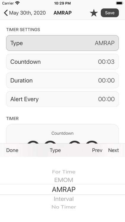 WOD Workout Timer and Log screenshot-4