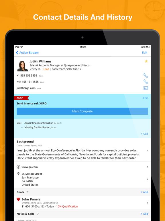 OnePageCRM: Mobile Sales CRM screenshot