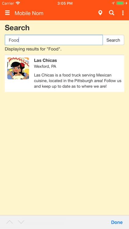Mobile Nom - Food Truck Finder screenshot-7