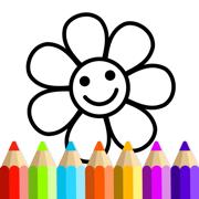 儿童游戏: 3岁-6岁宝宝填色本 画画涂色巴士游戏大全