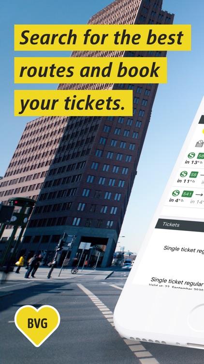 BVG Fahrinfo: Routes & Tickets screenshot-0