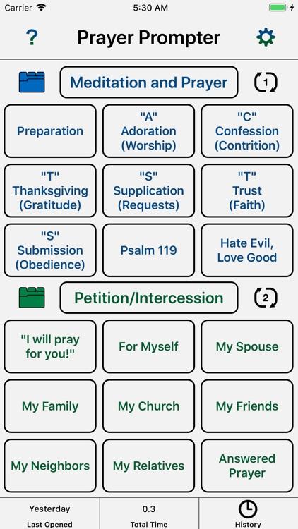 Christian Prayer Prompter