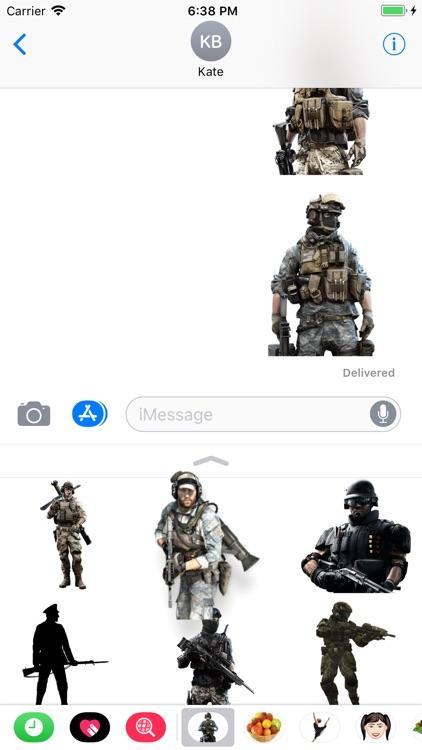 Military Bundle Stickers screenshot-3