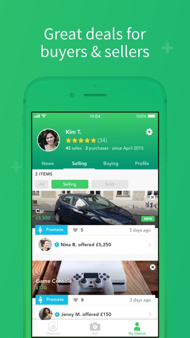 Screenshot for Shpock: Sell, Buy, Classifieds in United Kingdom App Store