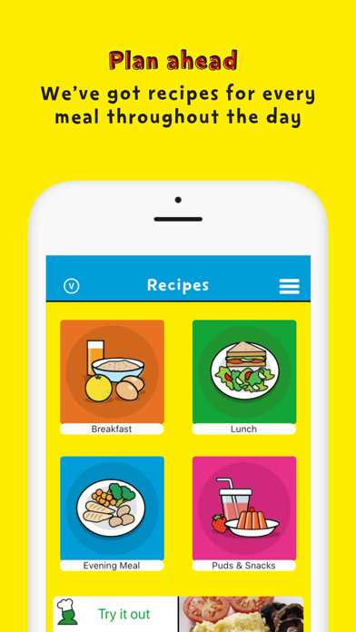 Change4Life Smart Recipes screenshot one
