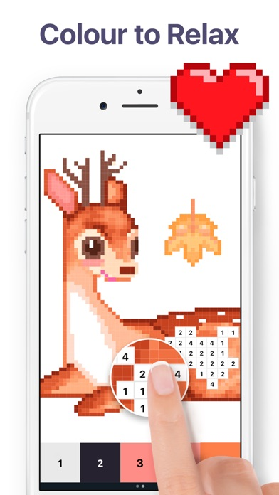 Screenshot for Pixel Art - Colour by Number in New Zealand App Store