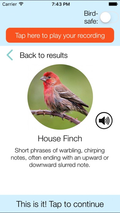 ChirpOMatic USA - Bird Song ID Screenshot