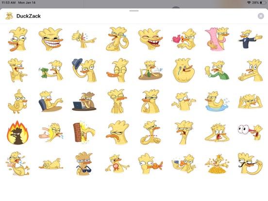 Duck Cute Pun Funny Stickers screenshot 4