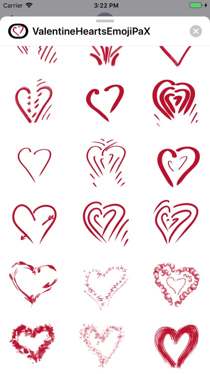 Valentine Hearts Emoji PaX screenshot-4