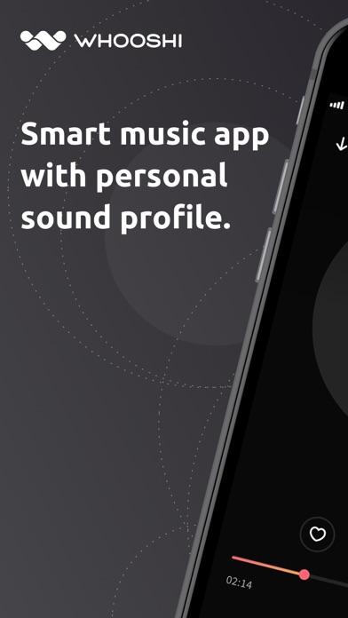 WHOOSHI Personal Audio Player screenshot one