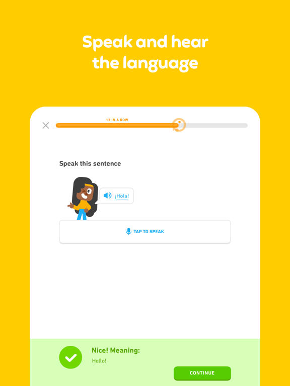 iPad Image of Duolingo - Language Lessons