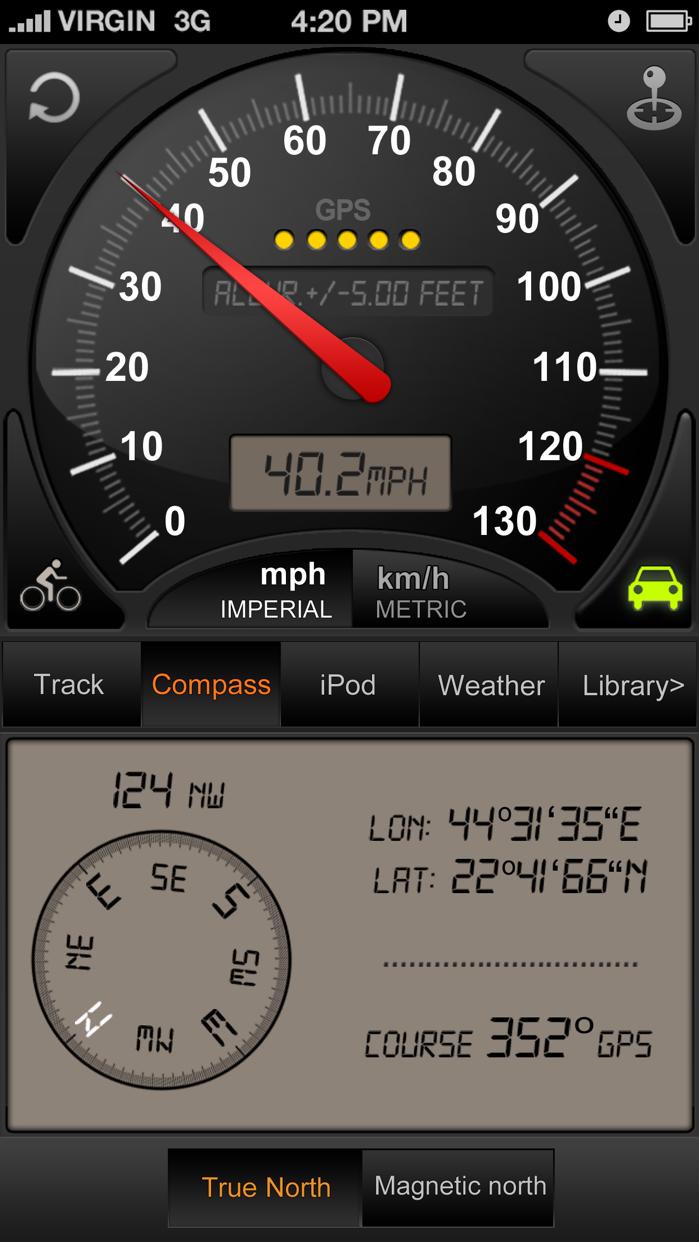 Speedometer GPS+ Screenshot