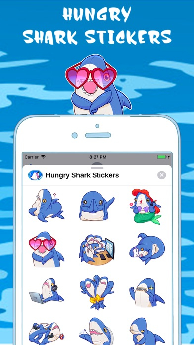 Screenshot for Hungry Shark Stickers in United States App Store