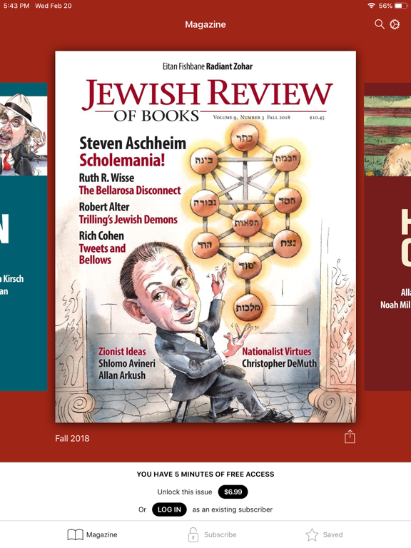 Jewish Review of Books | App Price Drops