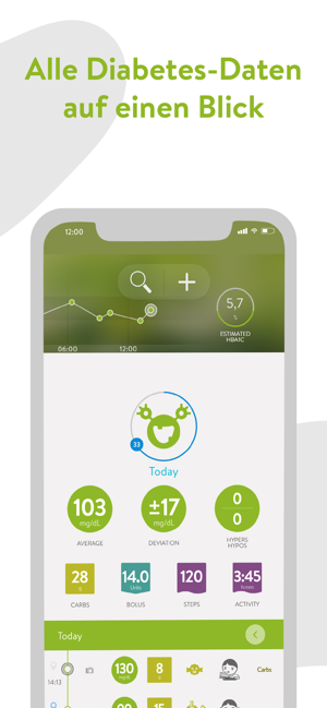 ‎mySugr - Diabetes-Tagebuch Screenshot