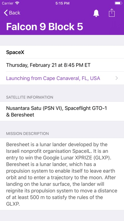 Launch Times