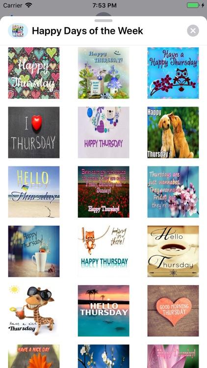 Happy Days of the Week Wishes screenshot-3