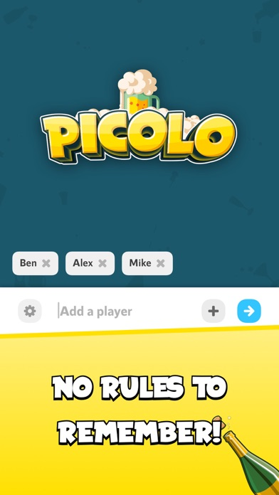 Picolo drinking game Screenshot