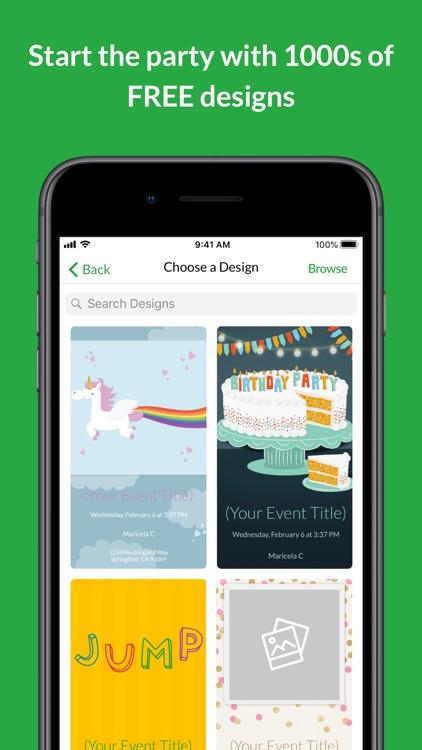 Evite: Online & Text Invites screenshot-0