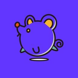 灰色老鼠-Sticker