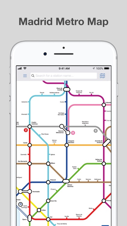 Madrid Metro - Map and Routes screenshot-0