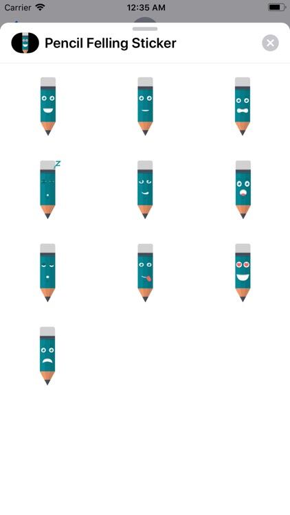 Pencil Felling Sticker