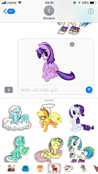 Pony Cute Funny Stickers screenshot 3