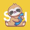 Sleepy Sloth Stickers