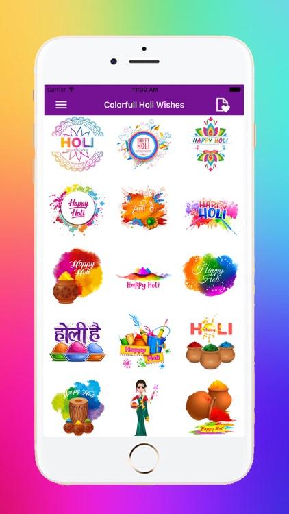Holi Stickers screenshot-4