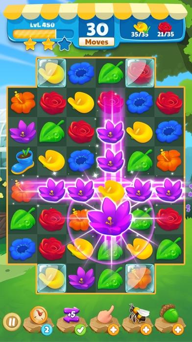 Flower Legends Match 3 screenshot 1
