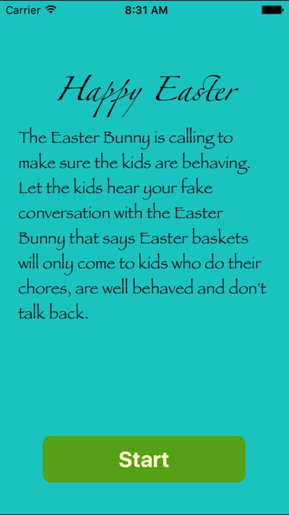 Fake call from Easter Bunny