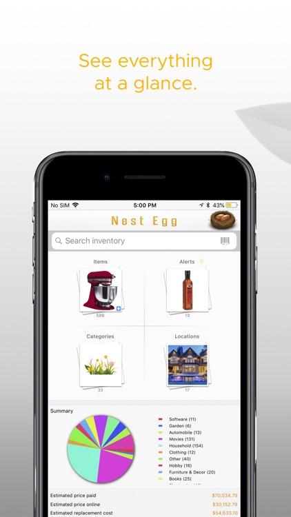 Nest Egg - Inventory Lite screenshot-0