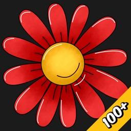 Flower Stickers #3