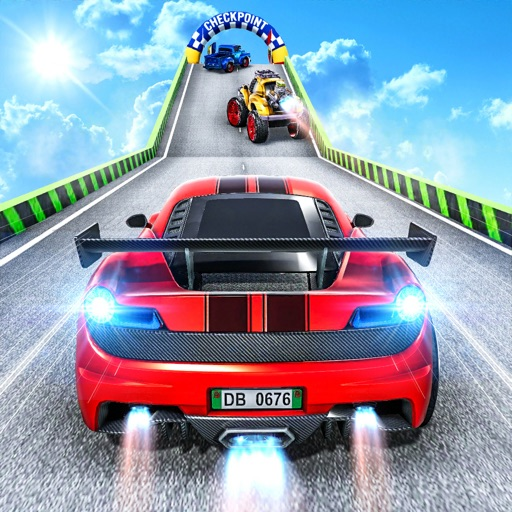 GT Car Stunt Racing Mega Ramps
