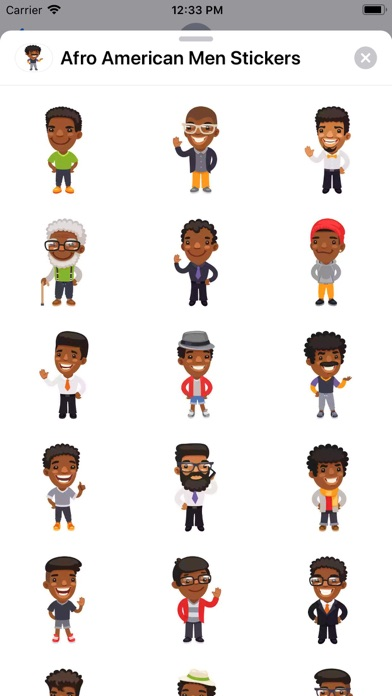 Screenshot for Afro American Men Stickers in United States App Store