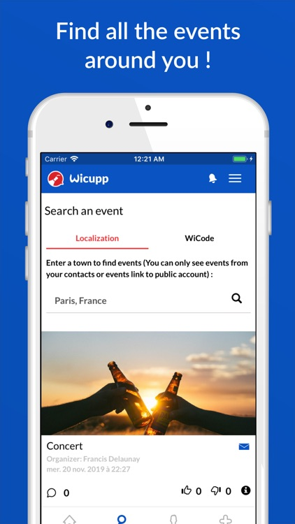Wicupp - Organize your events screenshot-3
