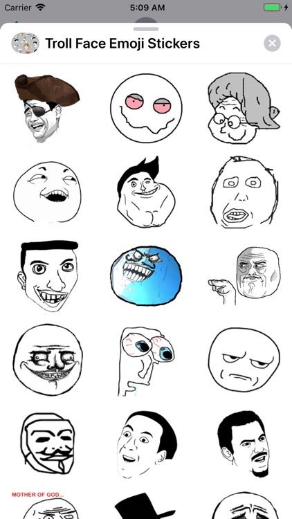 Troll Face Emoji Stickers screenshot-4