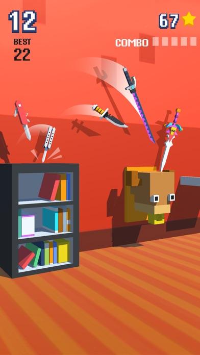Knife Flip - Hit Geometry Cube-0