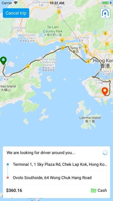 SuperCab - Taxi hailing app HK screenshot 3