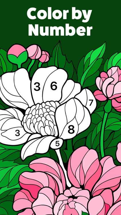 Color by Number, Coloring Book screenshot-0