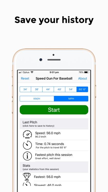 Speed Gun for Baseball screenshot-3