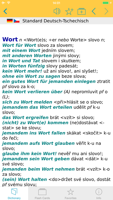 German Czech Dictionary screenshot one