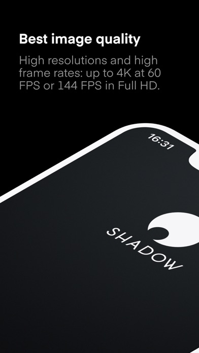 Screenshot from Shadow App