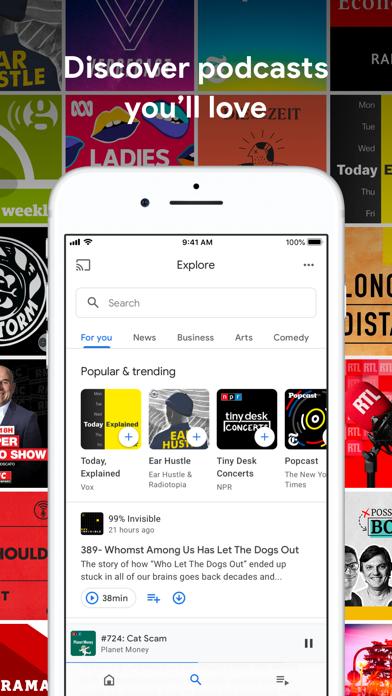 Google Podcasts screenshot 2