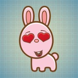Sticker Me Lovely Bunny