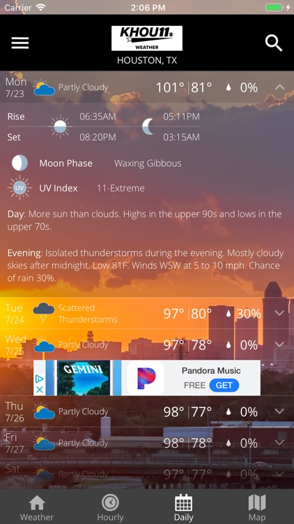 Houston Area Weather from KHOU screenshot-3