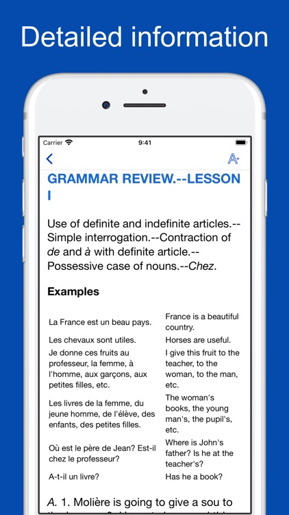 French Grammar and Vocabulary